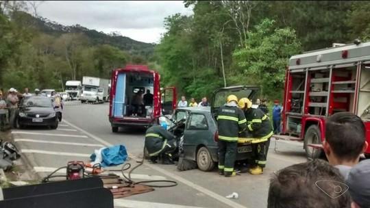 Dois acidentes são registrados na BR-262, no Sul do ES