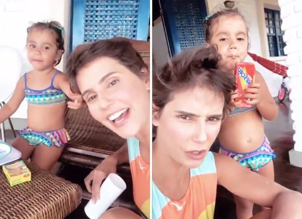 Deborah Secco e Maria Flor (Foto: Reprodução / Instagram)