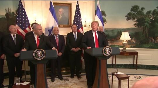 EUA reconhecem Colinas de Golã como parte de Israel