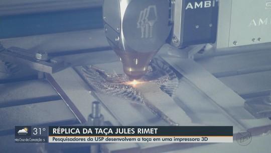 Taça Jules Rimet será reproduzida em impressora 3D na USP de São Carlos