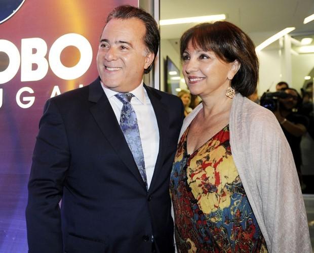Tony Ramos e Lidiane são casados há quase 50 anos (Foto: Jorge Firmino / TV Globo)