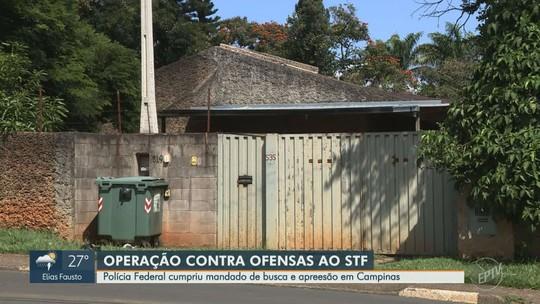 Polícia Federal investiga alvo de Campinas em inquérito sobre ofensas a ministros do STF