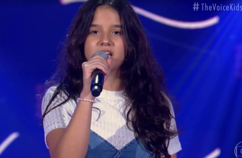 Bia Gurgel impressionou os técnicos com versão de 'Como Nossos Pais' — Foto: Globo