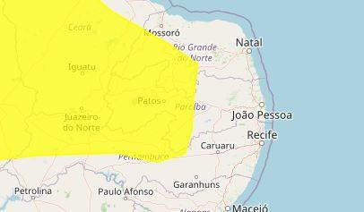 Inmet emite novo alerta de baixa umidade para 115 cidades da Paraíba