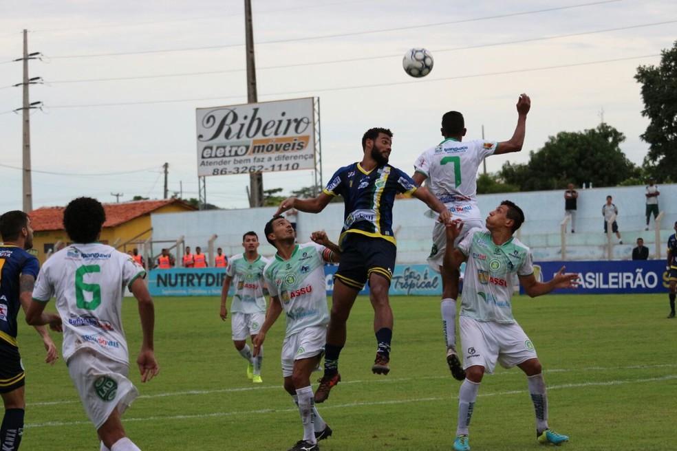Altos vence o Assu e se mantém na vice-liderança do Grupo A5 (Foto: Wenner Tito/GloboEsporte.com )