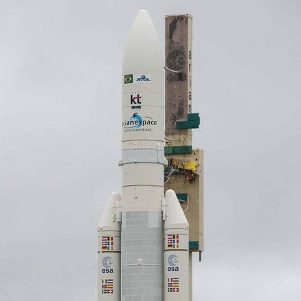 Foguete Ariane 5 (Foto: Reprodução/Twitter/@Arianespace)
