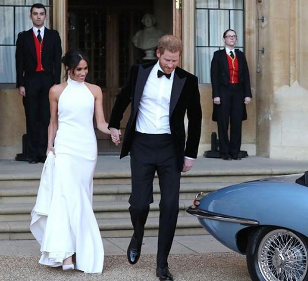Meghan Markle e príncipe Harry após a cerimônia de casamento (Foto: Reprodução/Instagram)