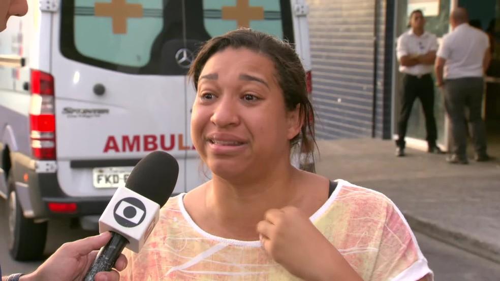 Francine conta que o pai, Flávio Belarmino de Lima, está internado desde o réveillon no Hospital Pedro II — Foto: Reprodução/ TV Globo