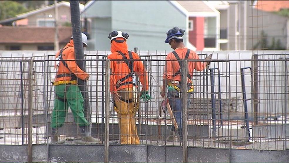 -  Setor da Construção Civil foi o que mais desempregou no Pará em 2017.  Foto: Reprodução/RPC