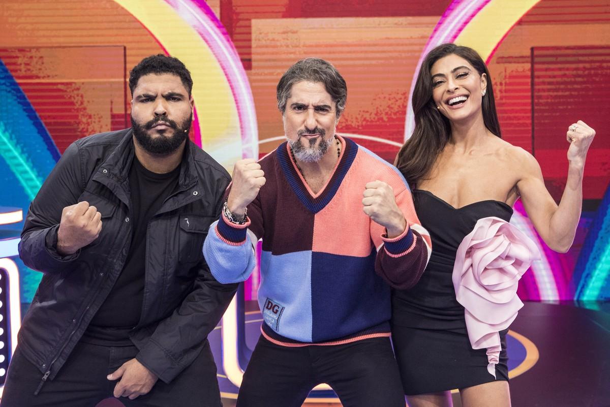 'Caldeirão': Marcos Mion estreia programa com Juliana Paes e Paulo Vieira como convidados   Pop & Arte