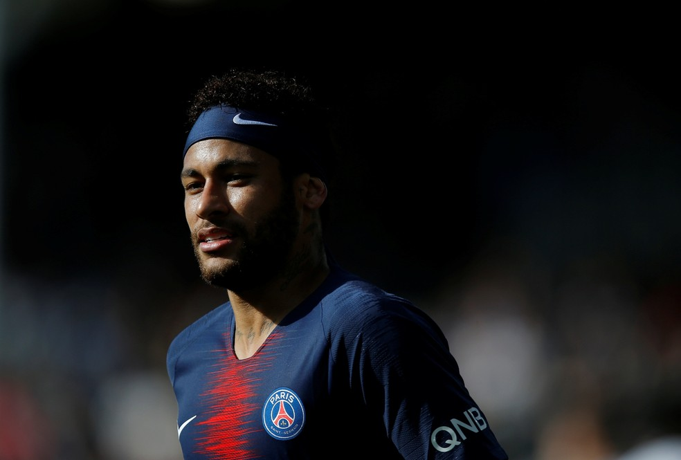 Neymar em Angers x PSG — Foto: REUTERS/Stephane Mahe