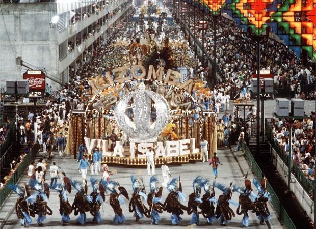 Desfile da Unidos de Vila Isabel em 1988 (Foto: Agência O Globo)