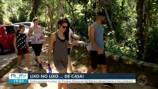 Turistas que visitam Parque Nacional de Itatiaia devem levar embora lixo que produziram