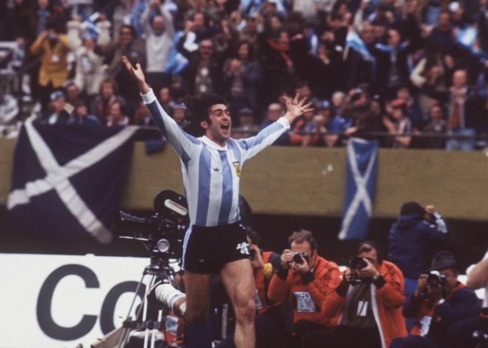 Mario Kempes foi um dos heróis argentinos da Copa de 1978 — Foto: Divulgação / Conmebol