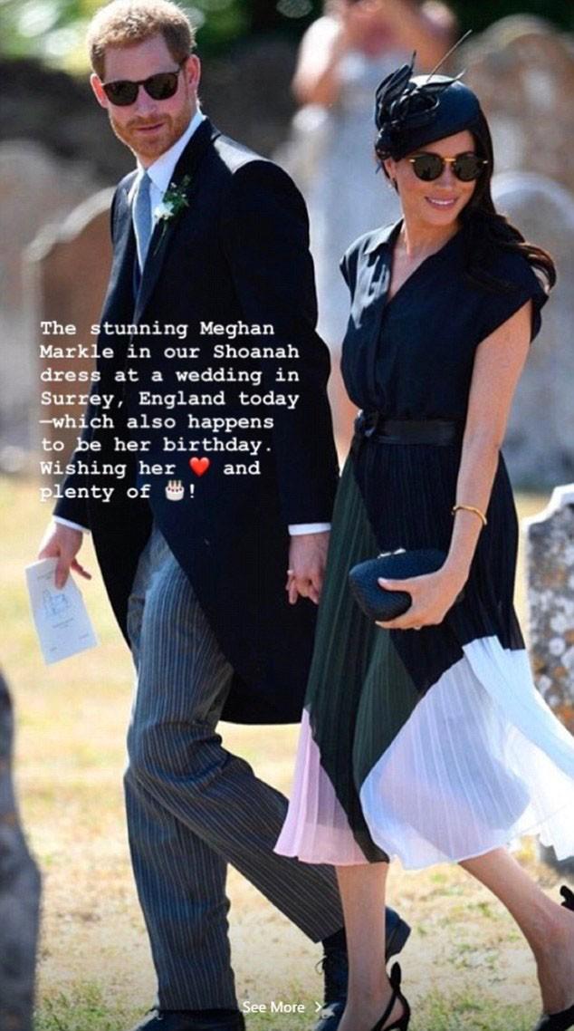 Príncipe Harry e Meghan Markle em post compartilhado nas redes sociais da grife Club Monaco (Foto: Instagram)
