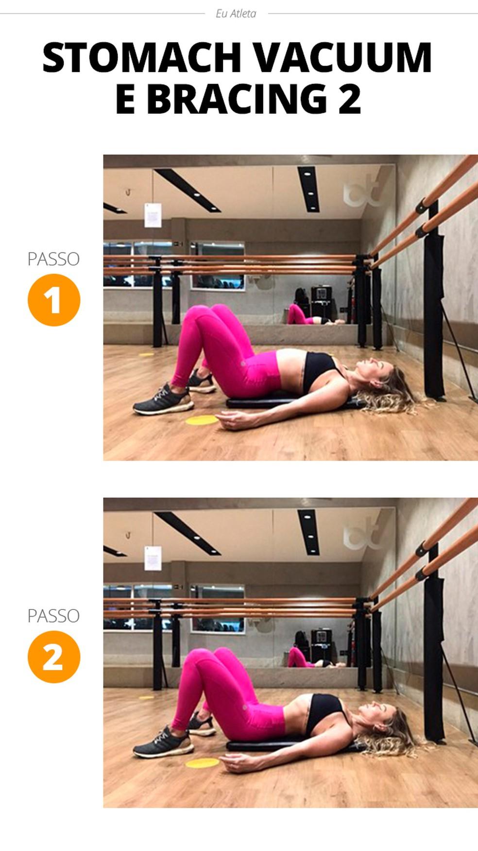 Conheça outra forma de realizar o stomach vacuum — Foto: Divulgação/Stephanie Iara Personal Trainer e Consultoria