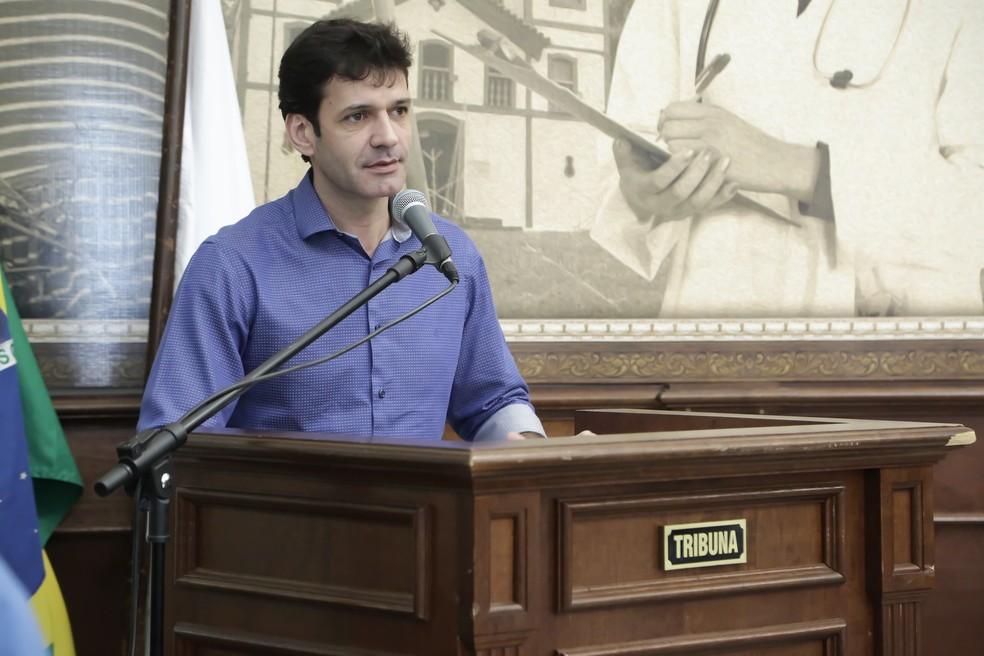 Ministro Marcelo Álvaro Antônio é denunciado pelo MP por candidatura-laranja — Foto: André Santos/Prefeitura de Uberaba