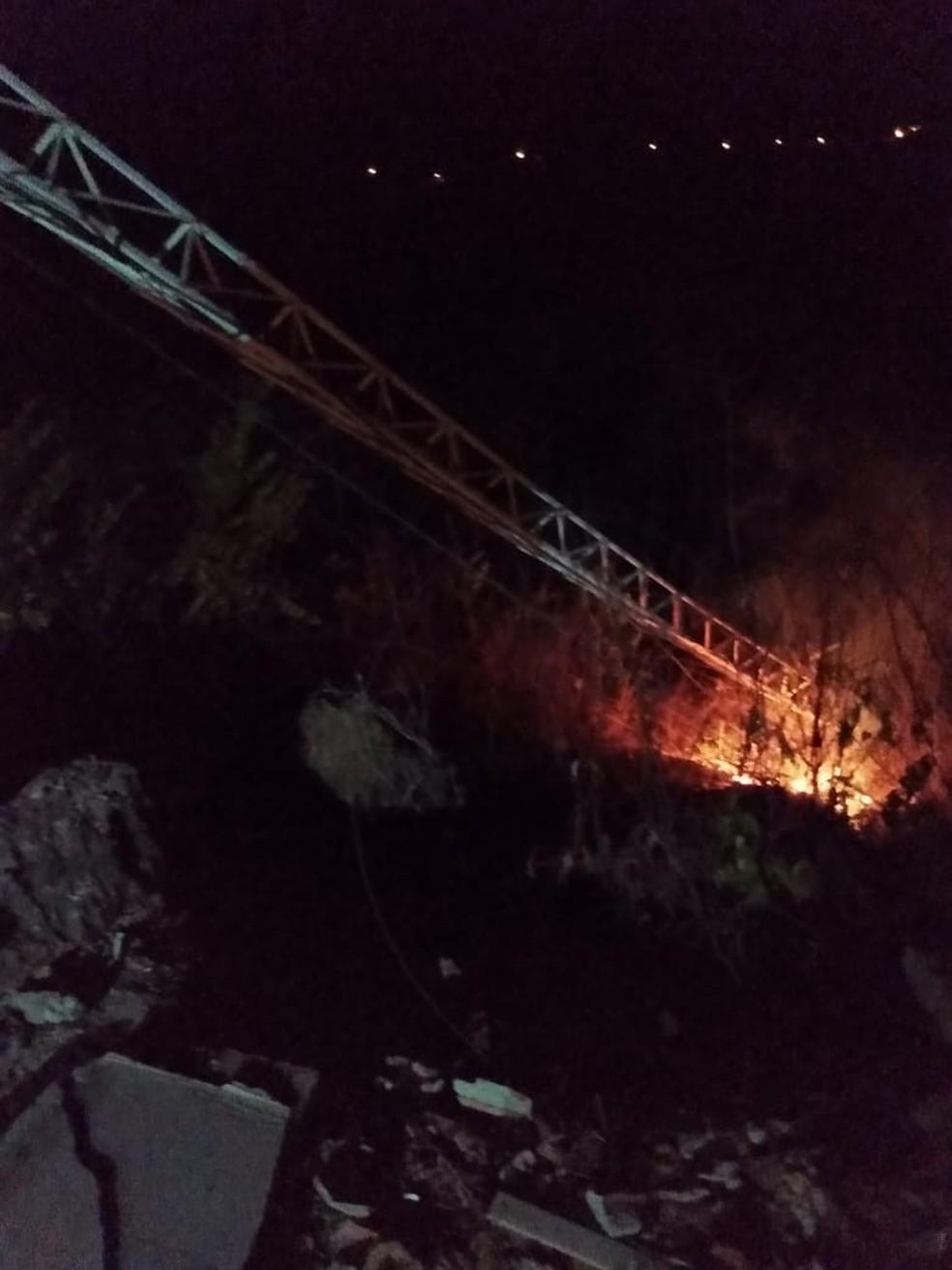 Equipamento foi incendiado e diretor de radio acredita que caso tenha motivações politicas no Ceará. — Foto: Arquivo Pessoal