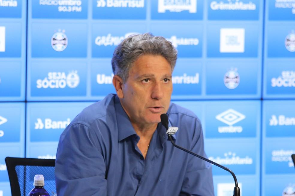 Renato Gaúcho, técnico do Grêmio — Foto: Eduardo Moura