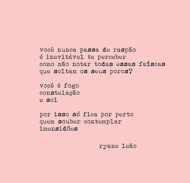 A brasileira Ryane Leão, que criou o poema abaixo para esta edição da Vogue (Foto: Divulgação e Reprodução/ Instagram)