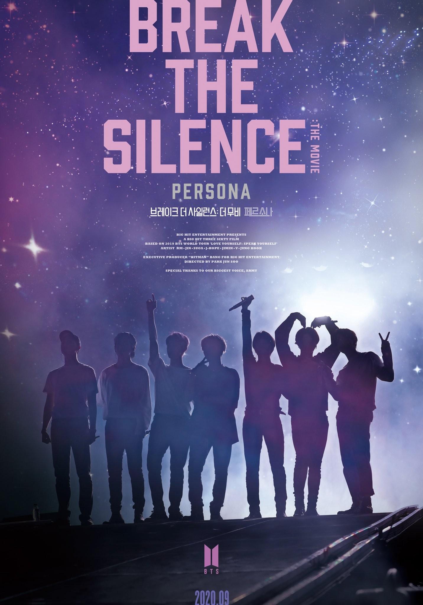 BTS anuncia filme 'Break the silence: The movie', com exibições pelo mundo em setembro