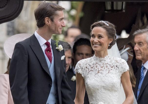 Pippa Middleton em seu casamento (Foto: Getty Images)