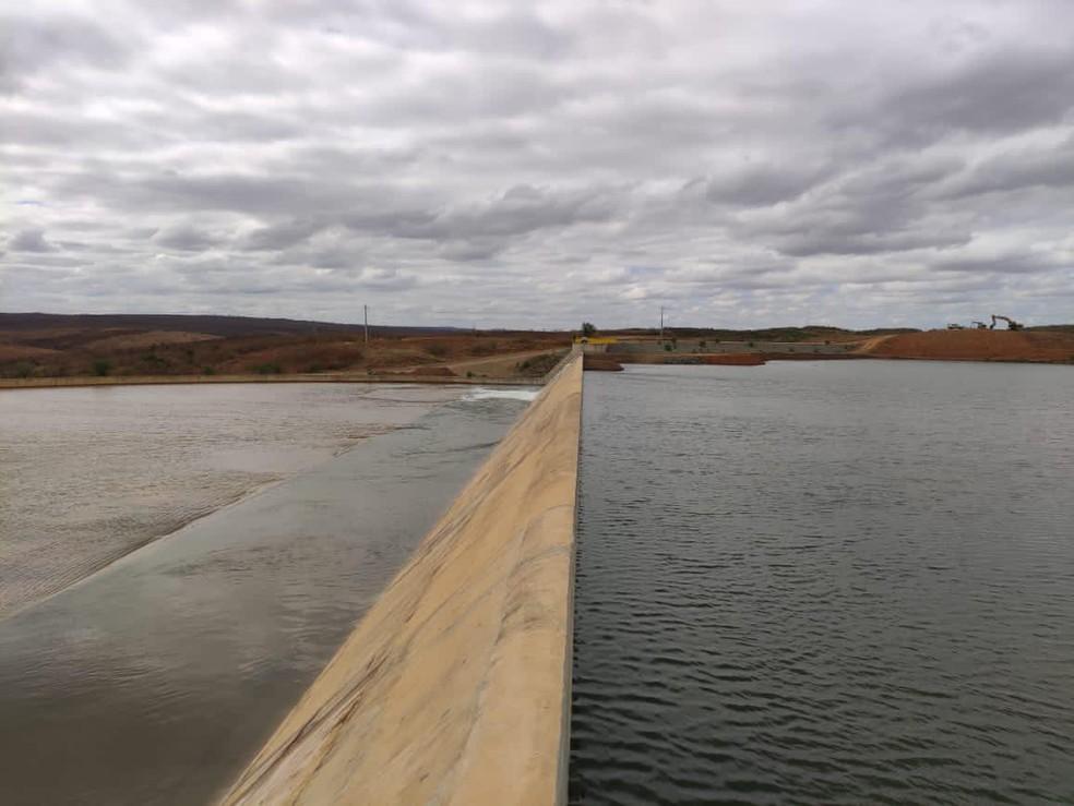 Reservatório de Atalho recebeu águas do Rio São Francisco em novembro de 2020 — Foto: Divulgação