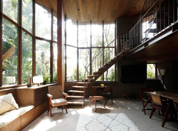 Casa-de-férias-na-floresta-no-Japão (Foto: Yuna Yagi/ Reprodução)