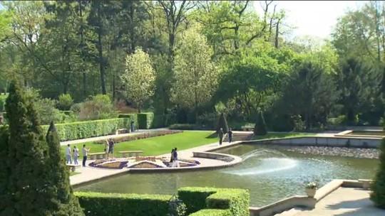 Extra web: castelo na Holanda reúne um dos maiores conjuntos de flores da Europa