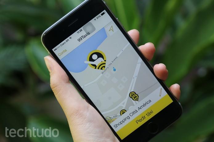 99Taxis, app que chama táxi, roda no Galaxy Y (Foto: Anna Kellen Bull/TechTudo)