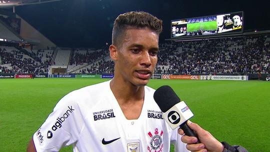 Pedrinho comenta empate do Corinthians com o Atlético-PR