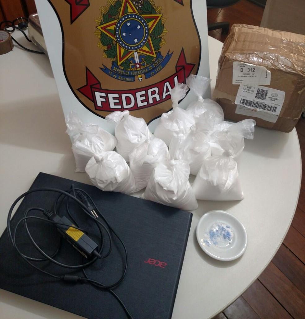 Droga estava em embalagens plásticas (Foto: Polícia Federal/Divulgação)