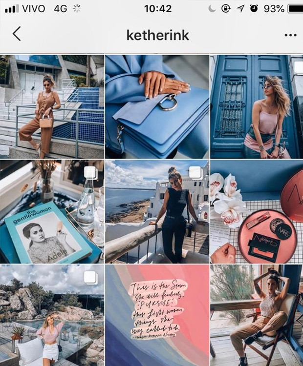 Feed da influenciadora digital Ketherin Kaffka (Foto: Instagram/ Reprodução)