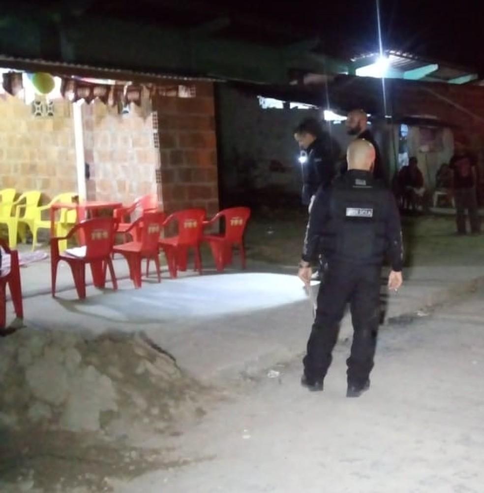 Local do crime em São Jaoquim do Monte (Foto: WhatsApp/Reprodução)