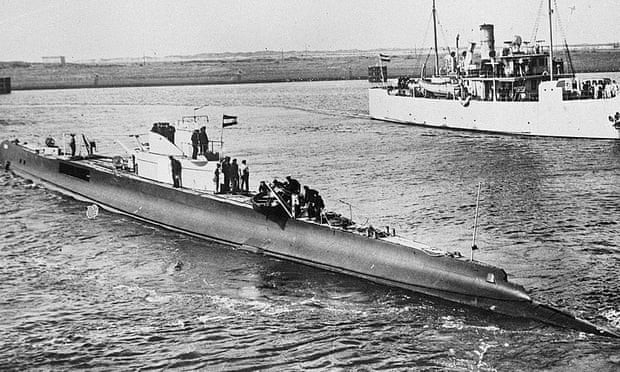 HNLMS K XVII, embarcação que naufragou em 1941 (Foto: Dutch national archives)