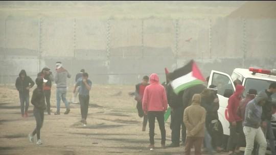 Palestinos fazem protestos na fronteira com Israel
