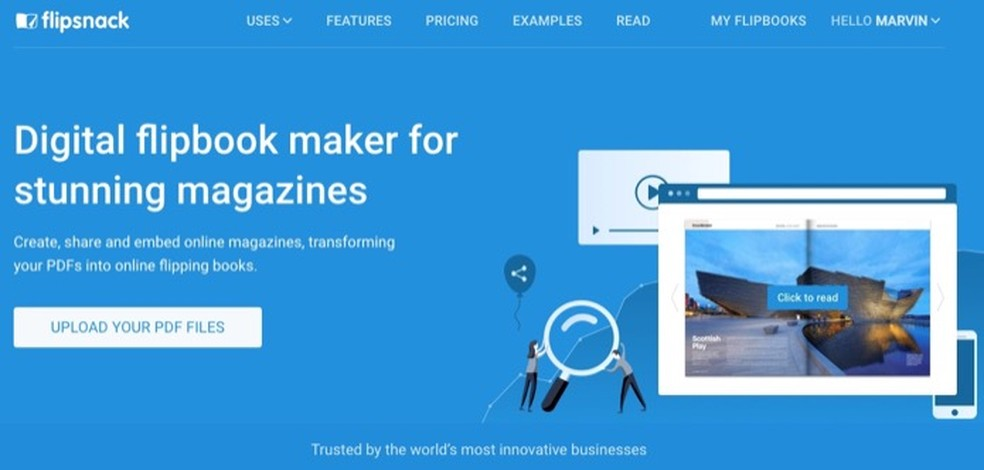 1c0d3d35fc ... Flipsnack é um serviço online que permite criar álbuns de fotos  digitais — Foto: Reprodução