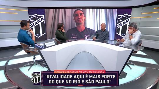 """Thiago Galhardo brinca sobre saída do Vasco: """"Vou esclarecer isso quando me aposentar"""""""