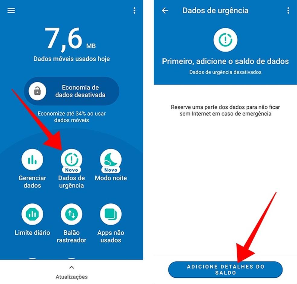 Ative os Dados de Urgência no Datally (Foto: Reprodução/Paulo Alves)