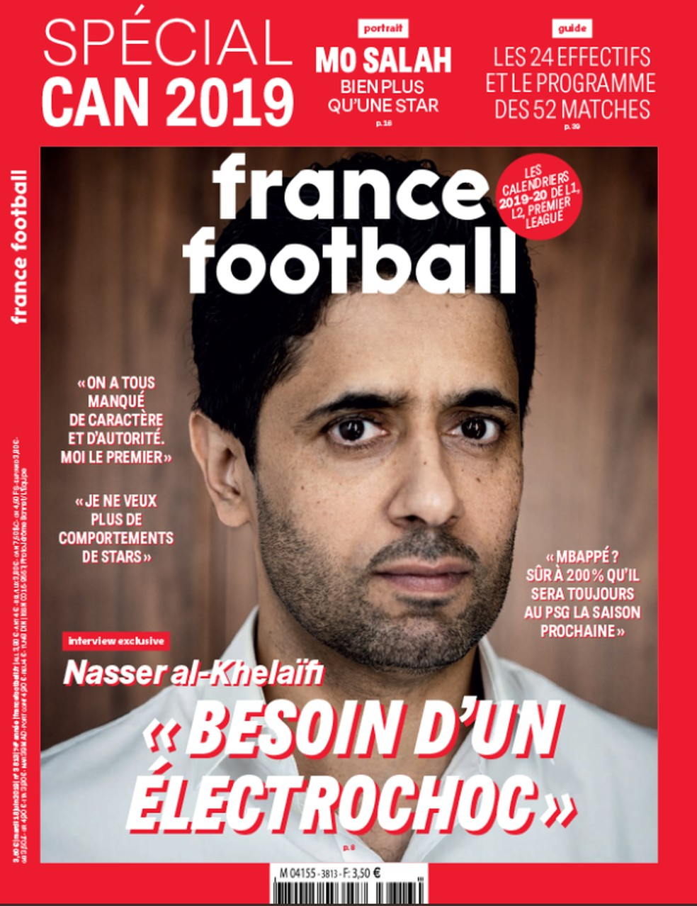 A capa da France Football  — Foto: Reprodução