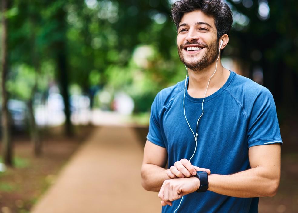90% dos participantes declararam que correr ajuda a aliviar o estresse mental — Foto: iStock Getty Images