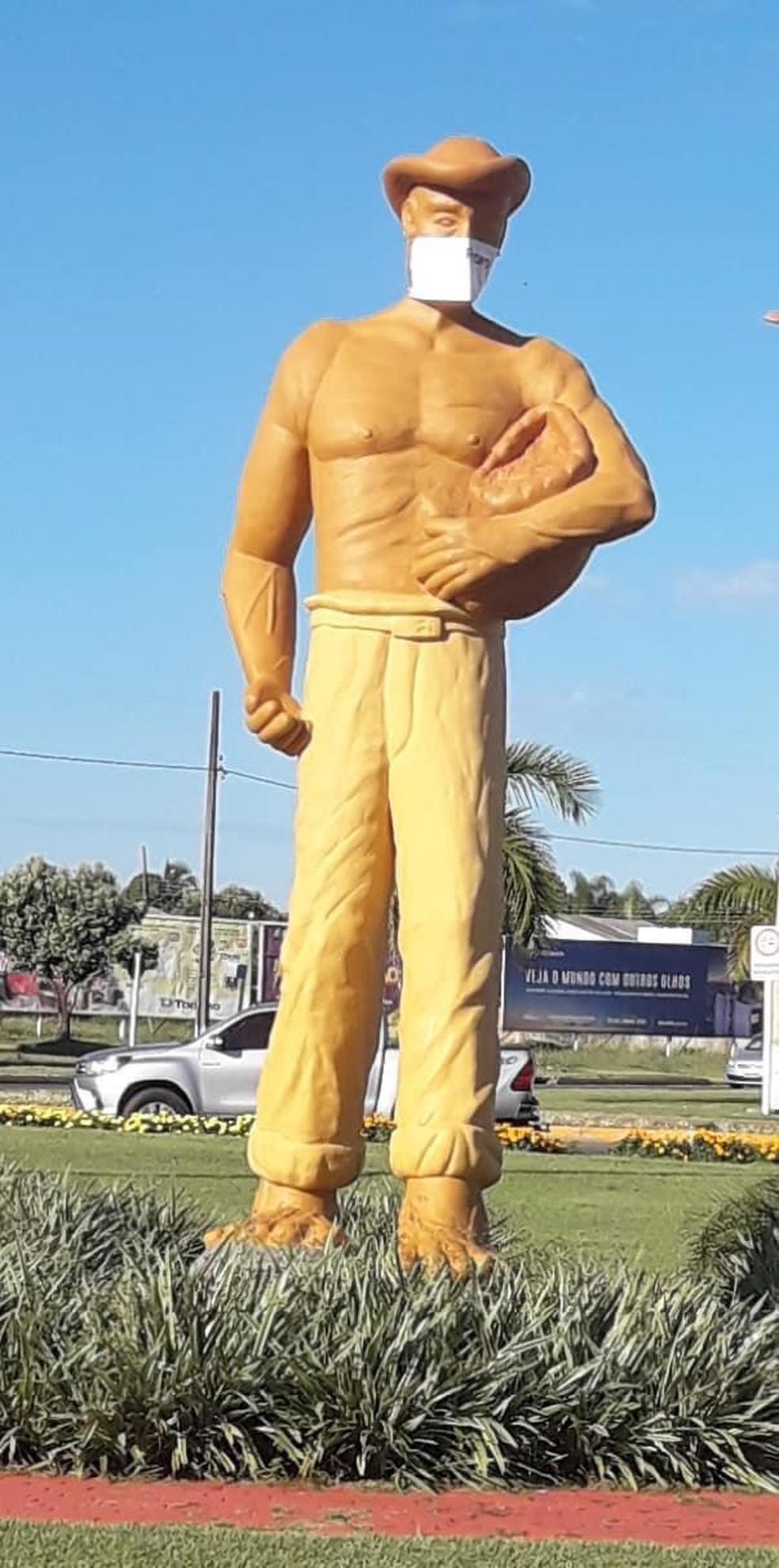 Estátua de Lucas do Rio Verde — Foto: Divulgação