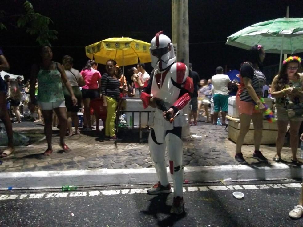 Personagem de Star Wars também inspirou fantasias no Corso de Teresina 2019 — Foto: G1 Piauí