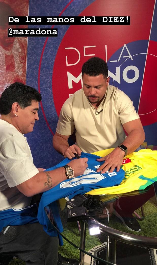 Maradona e Ronaldo (Foto: Reprodução/Instagram)