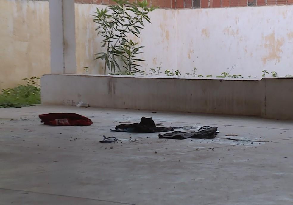 Crime foi cometido no Centro Comunitário do bairro Vila Marcela — Foto: Reprodução / TV Grande Rio