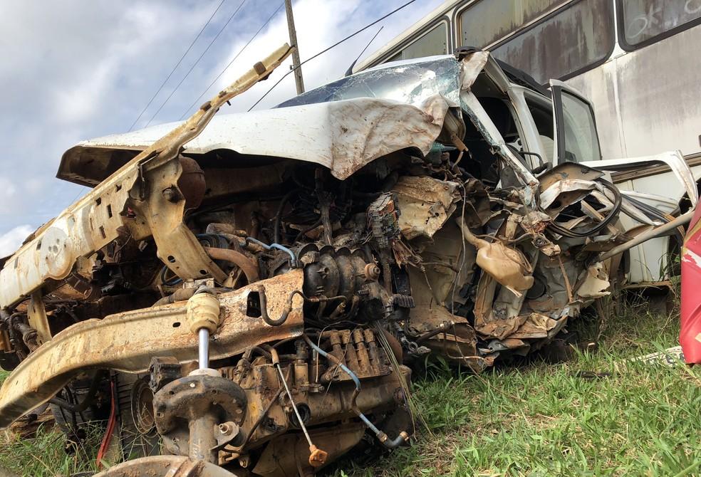 Acidente na BR-364 (Foto: Jeferson Carlos/G1)