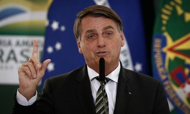 Bolsonaro em evento no Palácio do Planalto: interpelação vai pedir que confirme o que disse sobre gestão da Petrobras