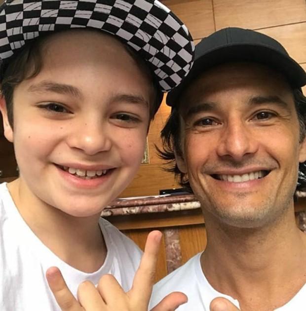 Kevin Vechiatto e Rodrigo Santoro (Foto: Reprodução/Instagram)