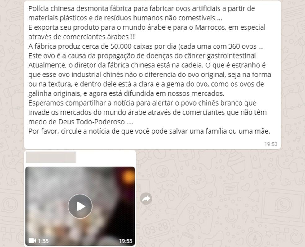 Vídeo tem bombado no WhatsApp (Foto: Reprodução/WhatsApp)