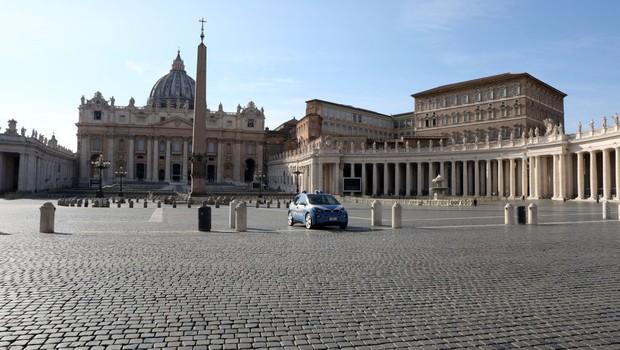 Praça de São Pedro, no Vaticano (Foto: Getty Images)